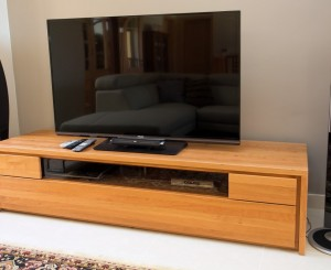 TV Unit in Solid Cherry