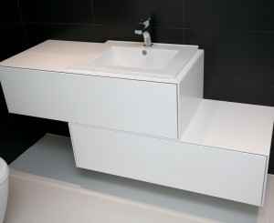 Vanity in White Lacquer