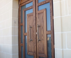 Main Door in Thermo Treated Ash - Outside View